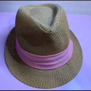 Tan with Pink Band Fedora